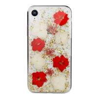 iPhone Xs Flower Case, SwitchEasy [Flash] Flowers Phone Case for 5.8-inch iPhone Xs 2018 Released, Transparent Clear Flexible Rubber Pressed Dry Real Floral Glitter Cover Hard Case (Florid, Xs/X)
