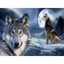 Diamond Painting Kits for Adults Kids, 5D DIY Wolf Diamond Art Accessories with Full Drill for Home Wall Decor 15.7×11.8Inch
