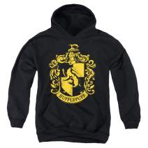 Popfunk Harry Potter Hufflepuff Logo Hogwarts Kids Youth Pullove Hoodie & Stickers