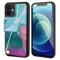 """ZVEdeng Compatible with iPhone 12 and 12 Pro Wallet Case with Card Holder, Magnetic Flip Case for iPhone 12 and 12 Pro Leather Case Rotational Phone Case for iPhone 12/12 Pro 6.1""""-Mixcolor"""