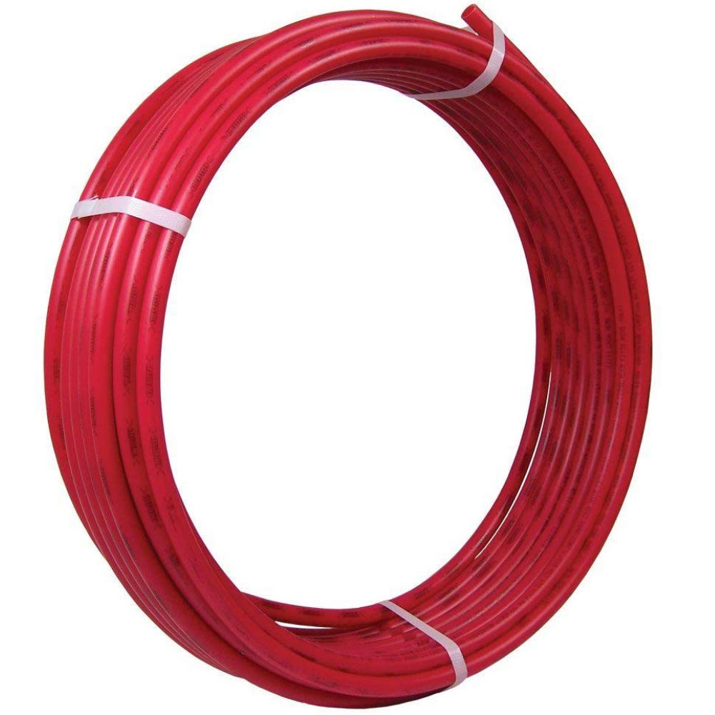 SharkBite U855R100 PEX 3/8 Inch, Red, Flexible Tubing, Potable Water, Push-to-Connect Plumbing Fittings, 100 Feet Coil of Piping