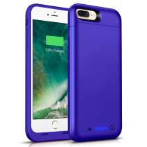 SHENMZ (Upgraded) Battery Case iPhone 7 Plus 8 Plus,7000mAh Portable Protective Charging Case for iPhone 7 Plus / 8 Plus Charger Case 5.5 inch Extended Battery Pack-Purple