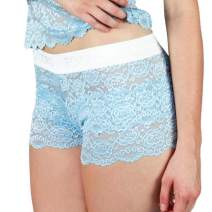 Foxers Women's Boxer Briefs Lace Underwear Flat Waistband   Sexy Lace Panties