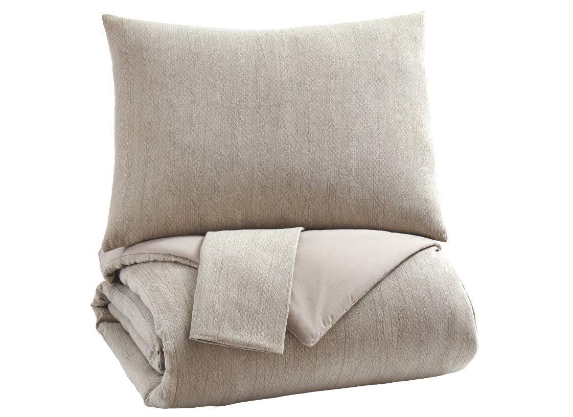 Signature Design by Ashley Mayda King Comforter Set, Beige