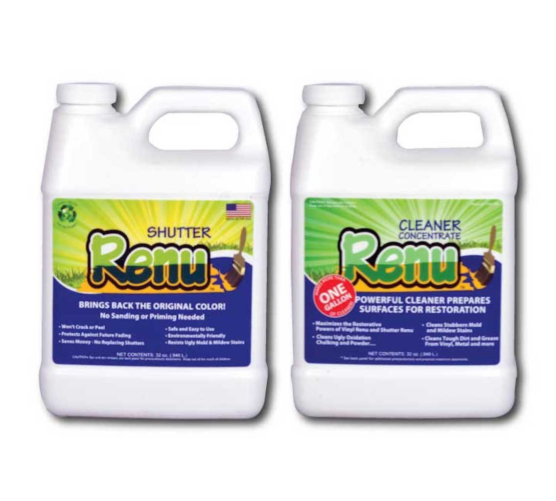 Shutter Renu 12-18 Shutter Kit-Restores Original Color and Shine to Faded Shutters. Immediate Results. Apply Once Every 10 Years. No Toxic Odors Or Solvents.