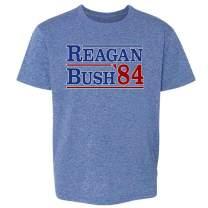 Pop Threads Ronald Reagan George Bush 1984 Campaign Toddler Kids Girl Boy T-Shirt
