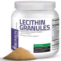 Bronson Lecithin Granules (Powder) 7500 MG, 1 Lbs (454 Grams, or 16 Ounces)
