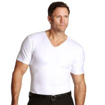Insta Slim ISPRO Slimming Muscle V-Neck Top Shapewear Compression Shirt for Men