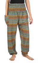 LOFBAZ Harem Pants for Women S-4XL Plus Hippie Yoga Floral Boho Lounge Clothing