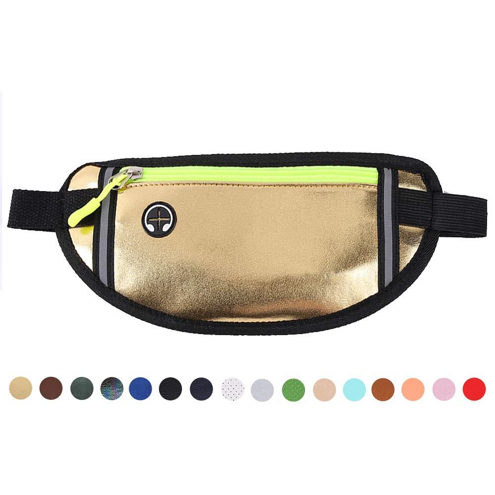 Black Sale Friday Deals Money Belt Travel Wallet Passport Holder Waterproof Leather Sport Pockets Safe Secure Running Belt Waist Bag Fanny Pack Cellphone Belt Pouch for Men and Women