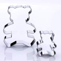 Teddy Bear Cookie Cutter Set, 2 Piece, Stainless Steel