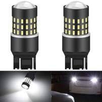KATUR 7440 7443 7444NA 7441 992 Led Light Bulb High Power 3014 54 Chipsets Super Bright 650 Lumens Replace for Turn Signal Back Up Reverse Brake Tail Stop Parking RV Lights,Xenon White(Pack of 2)