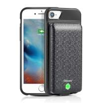 Charging Case for iPhone 8 Plus/7 Plus/6s Plus/6 Plus 5000mAh, Portable Protective Battery Case with Detachable Battery Pack Rechargeable Extended Battery Charger Case (Black, 5.5 inch)