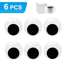 6pcs 3inch Giant Googly Wiggle Eyes Self Adhesive, Large Big Googly Eyes for Craft Sticker for DIY by ZZYI
