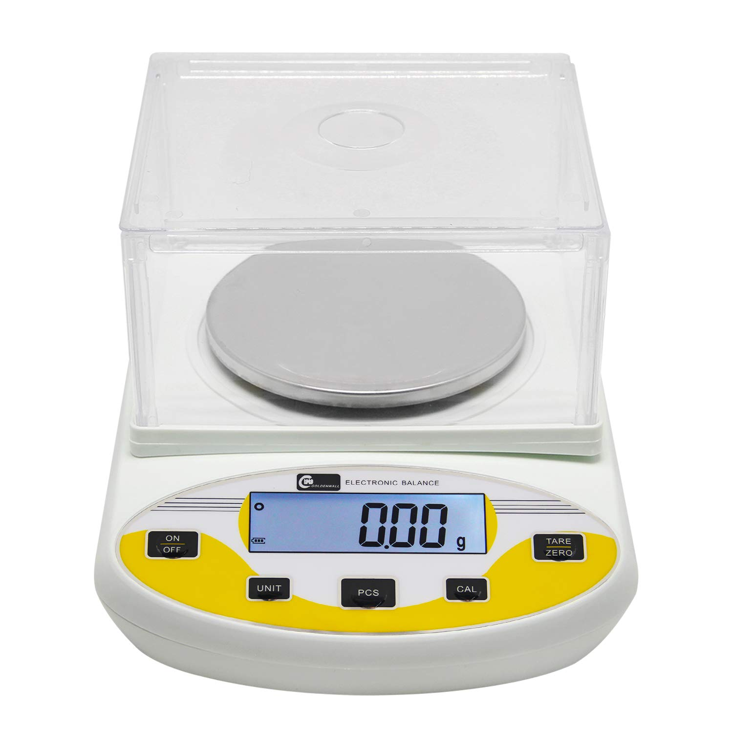 CGOLDENWALL High Precision Lab Digital Scale Analytical Electronic Balance Laboratory Lab Scale Precision Jewelry Scales Kitchen Precision Weighing Electronic Scales 0.01g Calibrated (3000g, 0.01g)