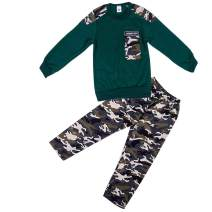 2-9T Boys Camo Outfits T-Shirt Top Army Camouflage Pants/Shorts 2Pcs Spring Summer Casual Tracksuit