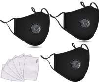 3 PCS Washable Reusable Adjustable Cotton Face Madks, B2