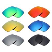 Mryok 6 Pair Polarized Replacement Lenses for Von Zipper Elmore Sunglass - Stealth Black/Fire Red/Ice Blue/Silver Titanium/Emerald Green/24K Gold