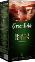 Greenfield English Edition Сlassic Collection Black Tea Finely Selected Speciality Tea 25 Double Chamber Teabags With Tags in Foil Sachets