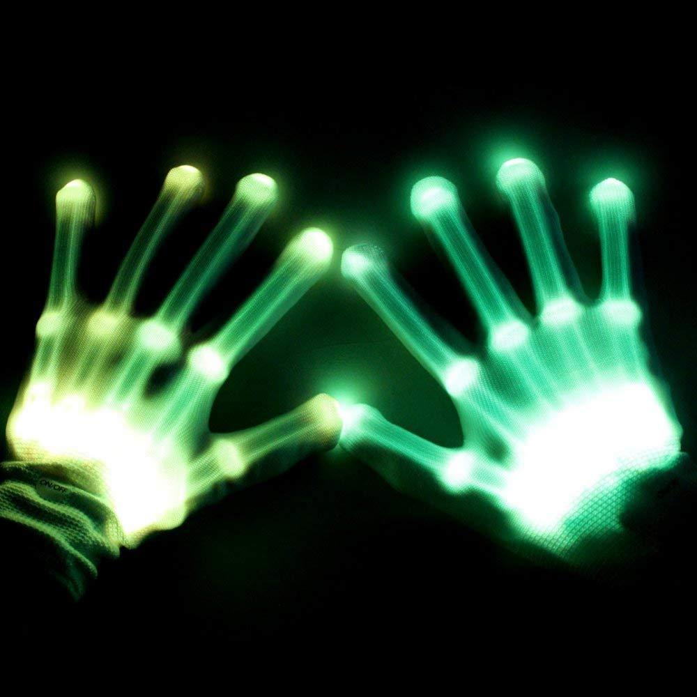 BFYWB Gifts for 3-12 Year Old Boys Girls, LED Gloves Finger Lights Fingertips Flashing New Cool Party Favor Christmas Gifts Hot Toys for 4-11 Year Old Boys Girls Birthday