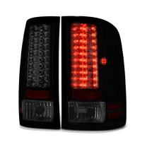 VIPMOTOZ Black Smoke Premium LED Tail Light Housing Lamp Assembly For 2007-2013 GMC Sierra 1500 2500HD 3500HD Driver and Passenger Side Replacement