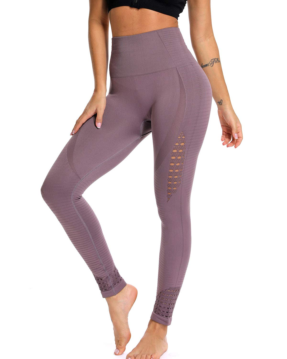 FITTOO Women's High Waist Seamless Leggings Ankle Yoga Pants Tummy Control Running Workout Tights