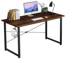"""Home Office Computer Desk,SOHO Writing Desk,Modern Simple Style Laptop Table, Workstation with X-Rod Reinforcement (47"""", VintageBrown)"""