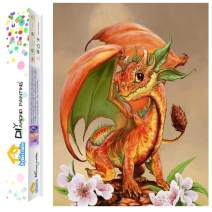 Dylan's cabin DIY 5D Diamond Painting Kits for Adults,Full Drill Embroidery Paint with Diamond for Home Wall Decor(Dragon /16x12inch)