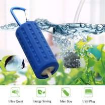 KABASI Aquarium Air Pumps, Mini USB Ultra Silent Aquarium Fish Tank Oxygen Air Pump with Air Stone and Silicone Tube, High Efficiency, Energy Saving, Plug and Play, 5V