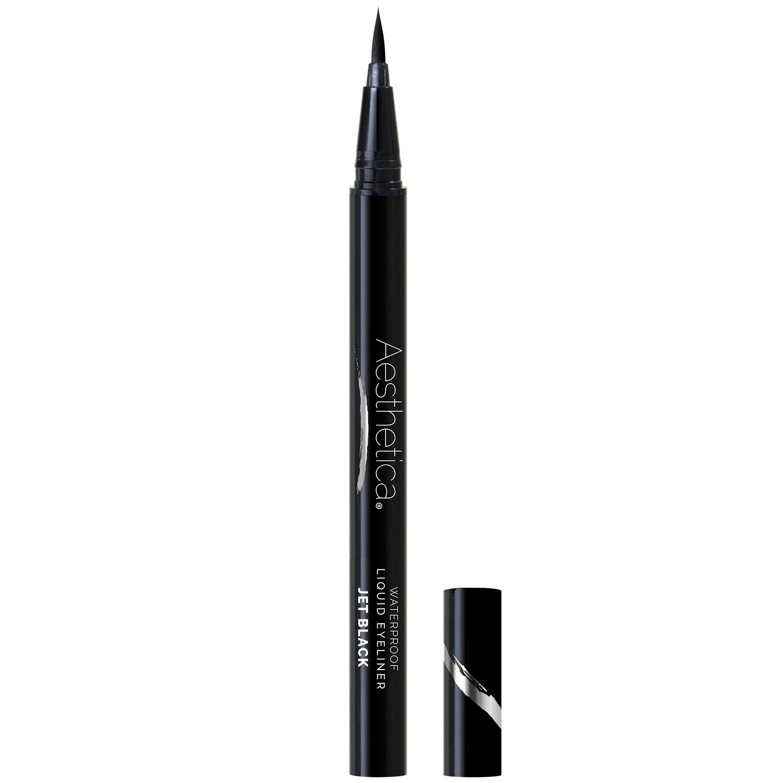Aesthetica Felt Tip Liquid Eyeliner Pen - Fast-drying Waterproof & Smudge  Proof Eye Liner (Jet Black)