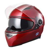 AHR Run-F DOT Motorcycle Full Face Helmet Dual Visors Sun Shield Lightweight ABS Street Bike Motorbike Touring Sports