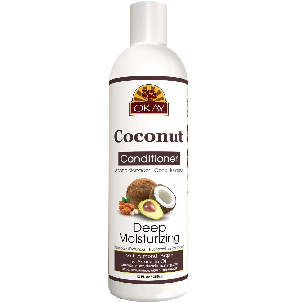 Okay Coconut Oil Deep Moisturizing Conditioner, 12 Oz
