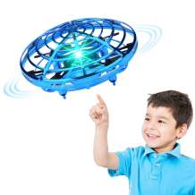 XINHOME Hand Operated Drone for Kids Adults - Hands Free Mini Drones for Kids, Easy Indoor Hand Drone, Flying Ball Drone Toys for Boys and Girls Gift (Blue)