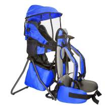 ClevrPlus Cross Country Baby Backpack Hiking Child Carrier Toddler Blue