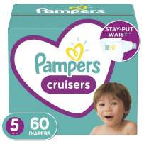 Diapers Size 5, 60 Count - Pampers Cruisers Disposable Baby Diapers, Super Pack (Packaging May Vary)