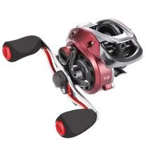 SeaKnight RED Fox Baitcasting Reel - Only 6.77oz, 7.2:1 Gear Ratio, 10+1BB, 17.6 Lb Carbon Fiber Drag, Micro Centrifugal Brake System Baitcasting Fishing Reels