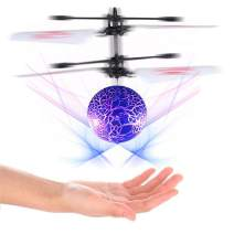 Hand Operated Drone, Flying Toys with Rechargeable Mini Infrared Induction Drone,Flying Drone Kids Toys for 4, 5, 6, 7, 8, 9, 10, 11, 12 Year Old Boys or Girls Gifts (Blue/Flying Ball)