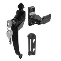 Prime-Line Products K 5080 Colonial Push Button Lock with Key and 1-3/4-Inch Hole Center, Black