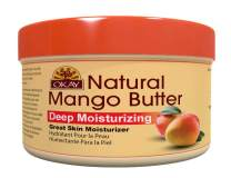 OKAY | 100% Natural Mango Butter | For All Hair Textures & Skin Types | Restores Elasticity & Replenishes Moisture | Deep Conditioning & Hydration | With Shea Butter | 7 Oz