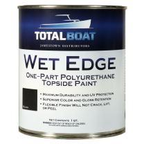 TotalBoat Wet Edge Topside Paint (Black, Quart)