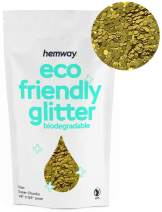 "Hemway Eco Friendly Biodegradable Glitter 100g / 3.5oz Bio Cosmetic Safe Sparkle Vegan for Face, Eyeshadow, Body, Hair, Nail and Festival Makeup, Craft - 1/8"" 0.125"" 3mm - Gold"