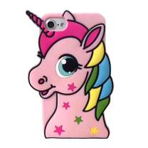 Hugmo Pink Unicorn iPhone Safety Case - Bright Protective Case Suitable for Girls 6+ (Pink, 7/8 Plus)