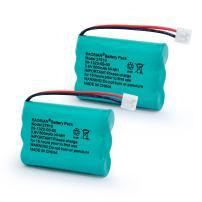BAOBIAN SD-7501 27910 89-1323-00-00 Cordless Phone Battery 3.6V 800mAh Ni-MH Compatible with Motorola MD7161 AT&T E1112 E2801 TL72108 Vtech I6725 RadioShack 23-959 (2 Pack)