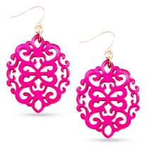 Lovinland Acrylic Resin Earrings, 1 Pair Earrings for Women Drop and Dangle Earring Girls Statement Earrings Fashion Jewelry