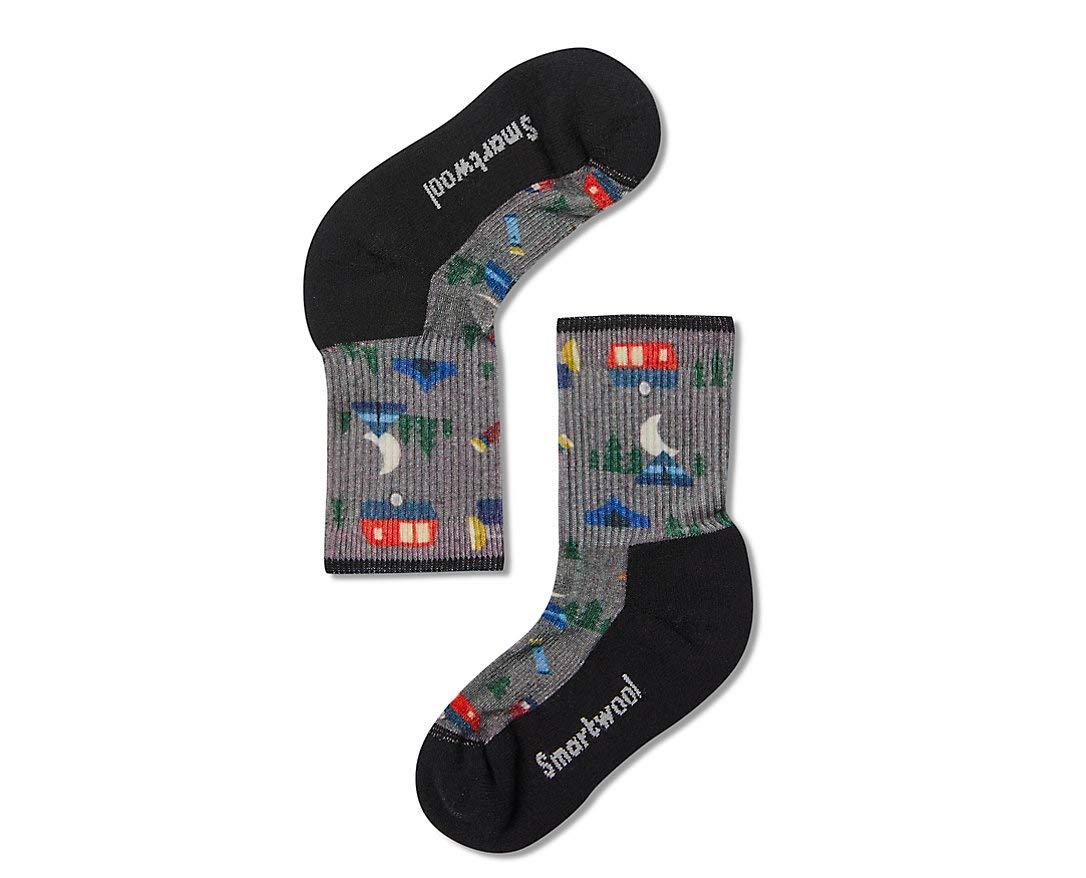 Smartwool Kids' Hiking Crew Socks - Summer Nights Print, Lightly Cushioned Merino Wool Performance Socks