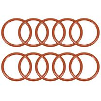 uxcell Silicone O-Ring, 29mm OD, 24.2mm ID, 2.4mm Width, VMQ Seal Rings Gasket, Red, Pack of 10