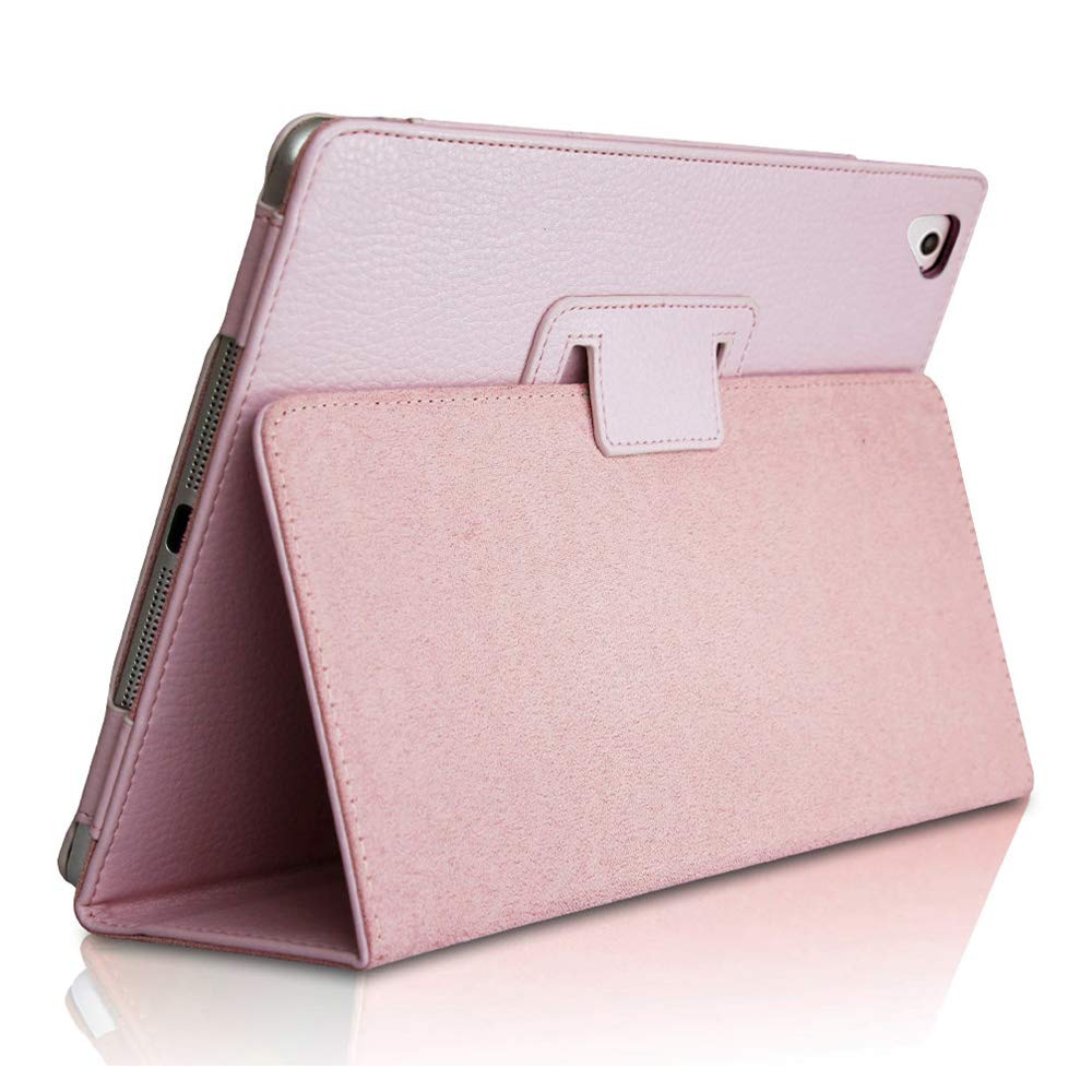 """FANSONG iPad Air 2 Case,2018/2017 9.7 iPad/Cover, Bifold Series Litchi Stria Slim Thin Magnetic PU Leather Smart Cover [Flip Stand,Sleep Function] Universal for Apple iPad Air/Air 2/Pro(9.7""""), Pink"""