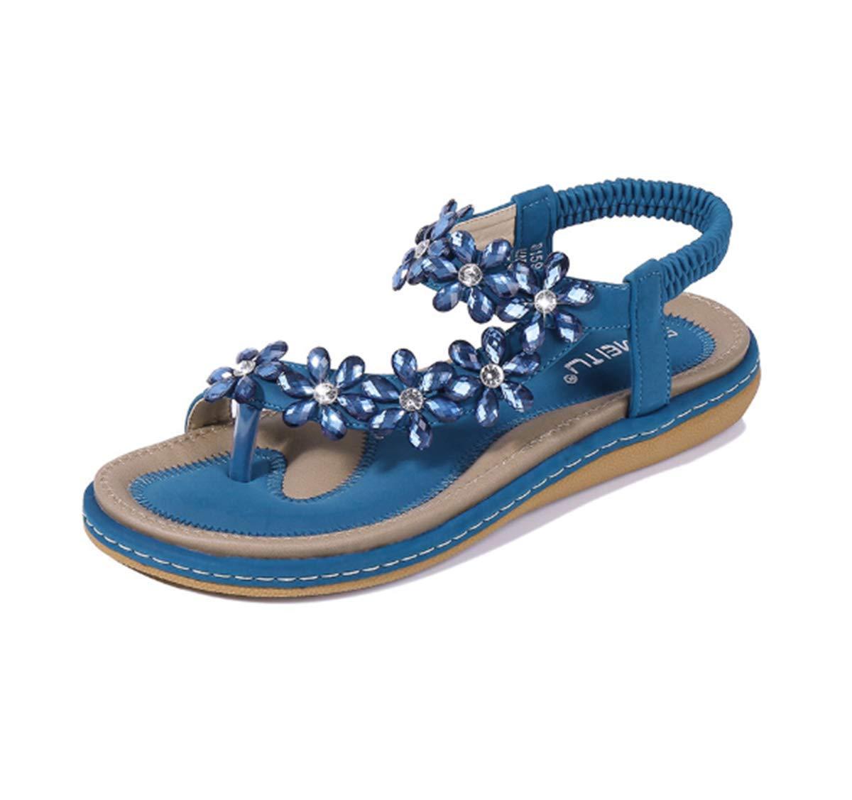 HNGHOU Women's Casual Flip Flops Beach Shoes Summer Beach Thong Flat Sandal