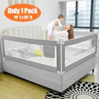 """SURPCOS Bed Rails for Toddlers - 60"""" 70"""" 80"""" Extra Long Baby Bed Rail Guard for Kids Twin, Double, Full Size Queen & King Mattress (Bucks, 1Side:70""""(L)×30""""(H))"""