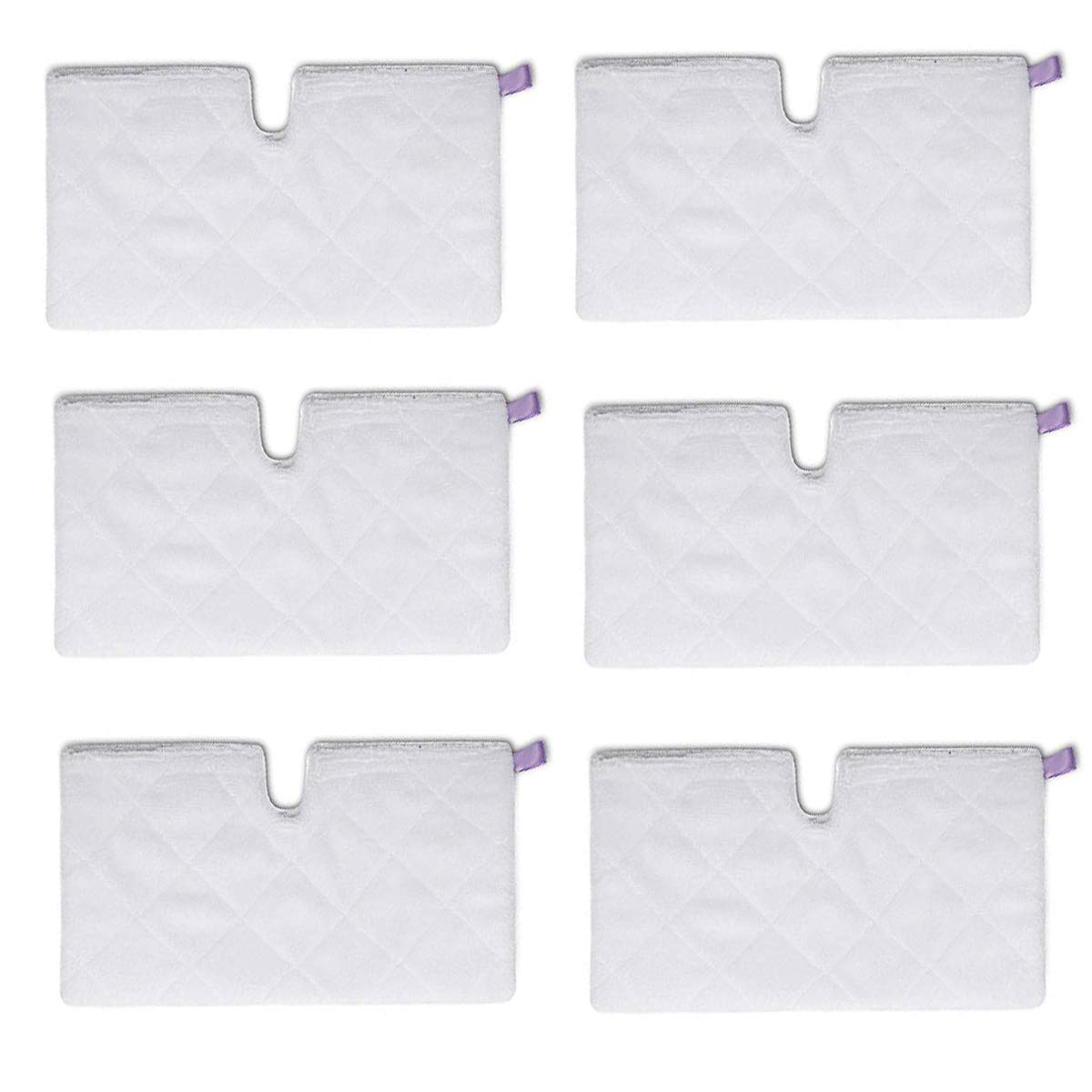 LICORNE 6 Pack Mop Heads Steam Pocket Mop Pads Compatible Replacement Mop Pads for Shark Euro Pro S3501 S3601 S3901